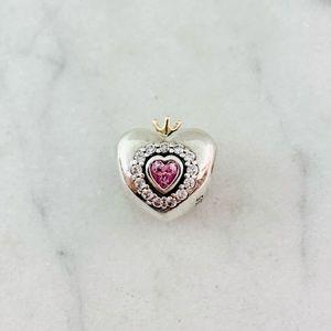 Pandora Two Tone Princess Heart Charm